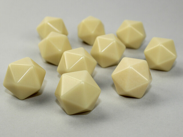 10D20 (10 Twenty Sided) 16mm Blank IVORY Dice RPG Gaming Tabletop Roleplay