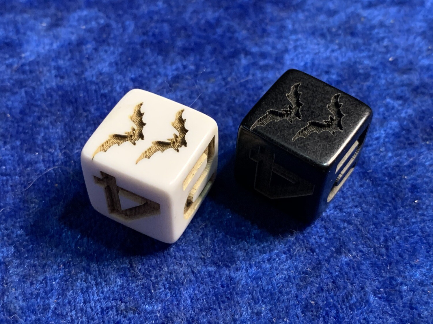 Bat D6 (Six-Sided) Custom Engraved Dice Bats Gaming Tabletop RPG Roleplay