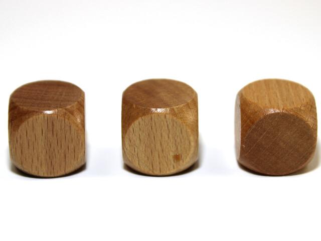 Wooden 16mm BLANK D6 (Six Sided) Polyhedral Die RPG Dice Tabletop - PER EACH