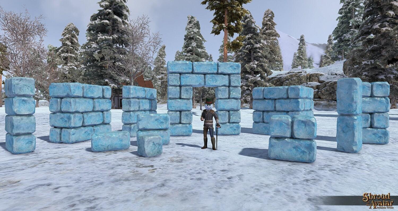 Ice Building Blocks 110-Pack - Shroud of the Avatar