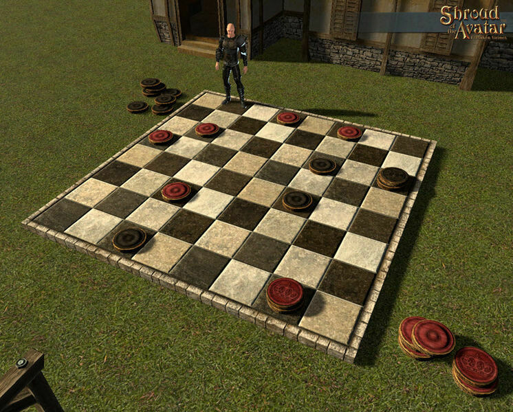 Giant Checkered Maple Parquet Paver – Pack of 3 - Shroud of the Avatar