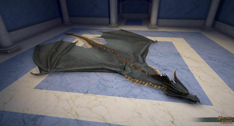 Blue Dragon Skin Rug - Shroud of the Avatar