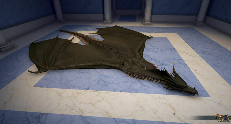 Black Dragon Skin Rug - Shroud of the Avatar