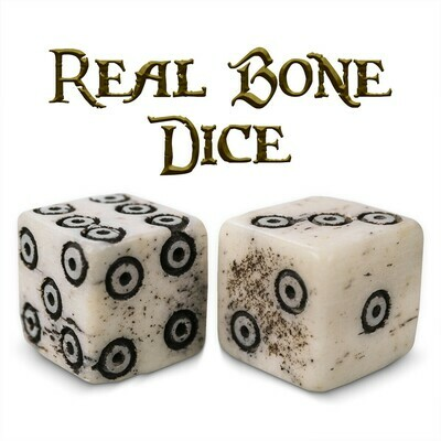 Luck Of The Lich Bullseye Bone Dice 10mm Mini D6 Six-Sided RPG Tabletop Gaming