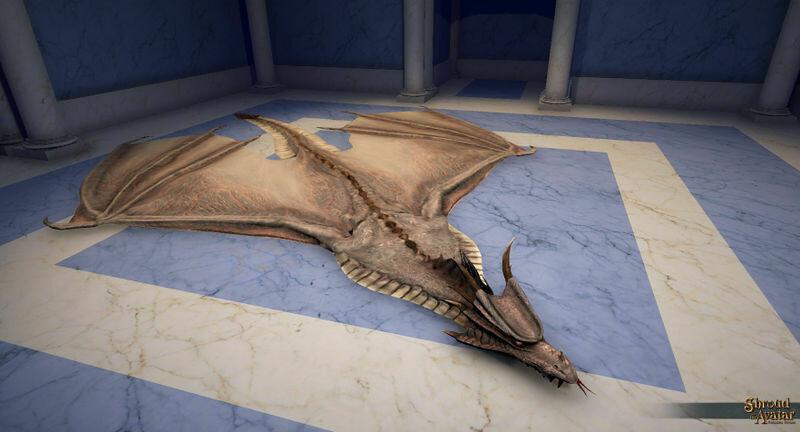 White Dragon Skin Rug - Shroud of the Avatar