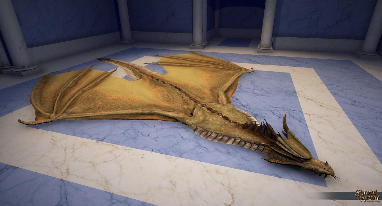 Yellow Dragon Skin Rug - Shroud of the Avatar
