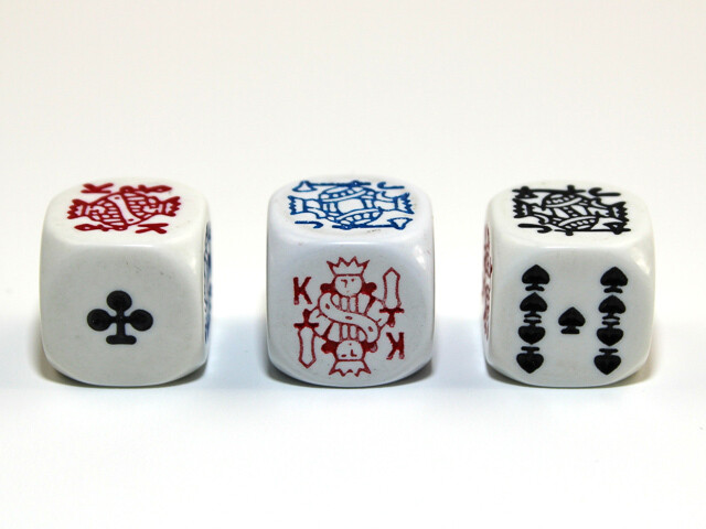 White 16mm Opaque Poker Dice RPG Gaming Tabletop Roleplay Games Card Board EACH