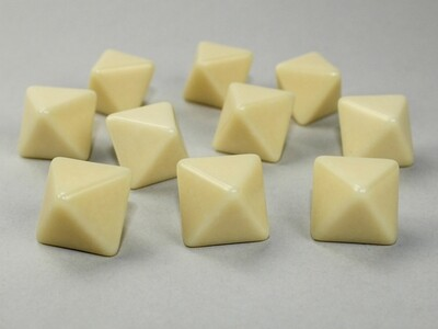 10D8 (10 Eight Sided) 16mm Blank Ivory Dice RPG Gaming Tabletop Roleplay Games