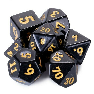 25mm Titan Stardust 7 Dice Polyhedral Set RPG Tabletop Gaming Roleplay Large