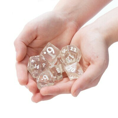 25mm Titan Sparkle Vomit 7 Dice Polyhedral Set RPG Tabletop Gaming Roleplay Large RPG Tabletop Gaming CCG Card Board Tokens Counters Markers