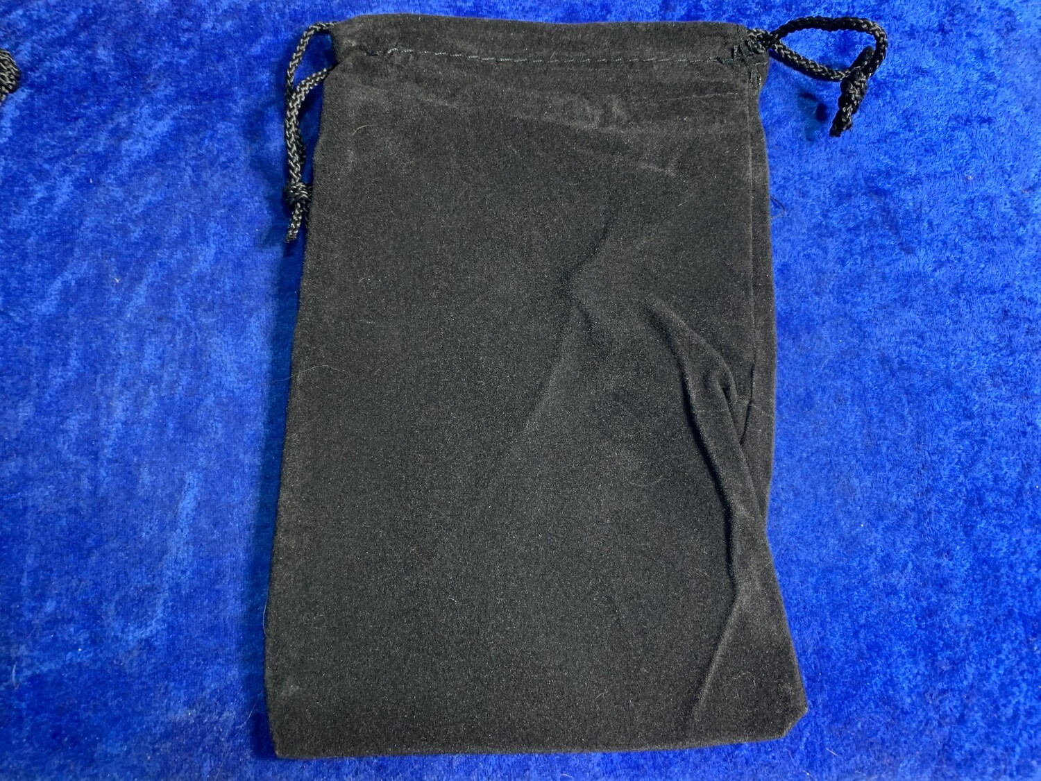"""6x9"""" Cloth Dice Bag Black Large Drawstring Jewelry Pouch Holds Many Polyhedral"""
