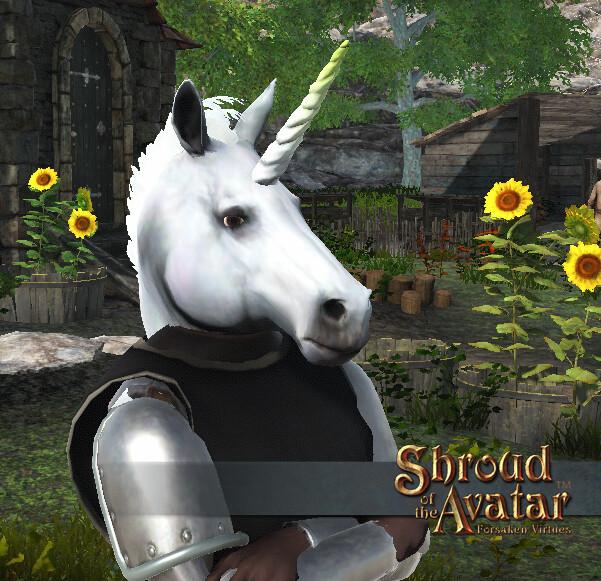 Light Unicorn Mask - Shroud of the Avatar