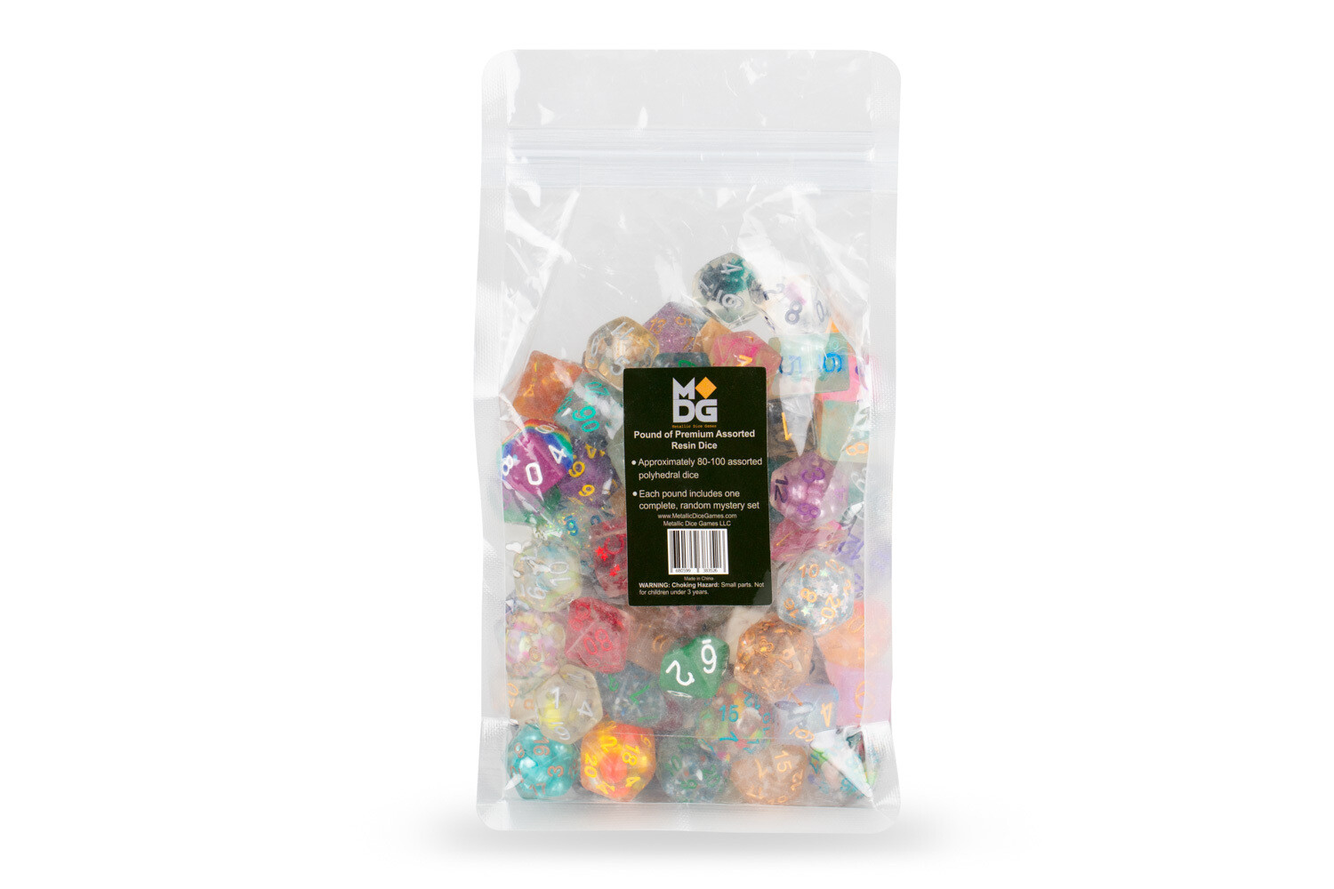 Pound of Premium Assorted Resin Dice RPG Tabletop Gaming Roleplay Board Card