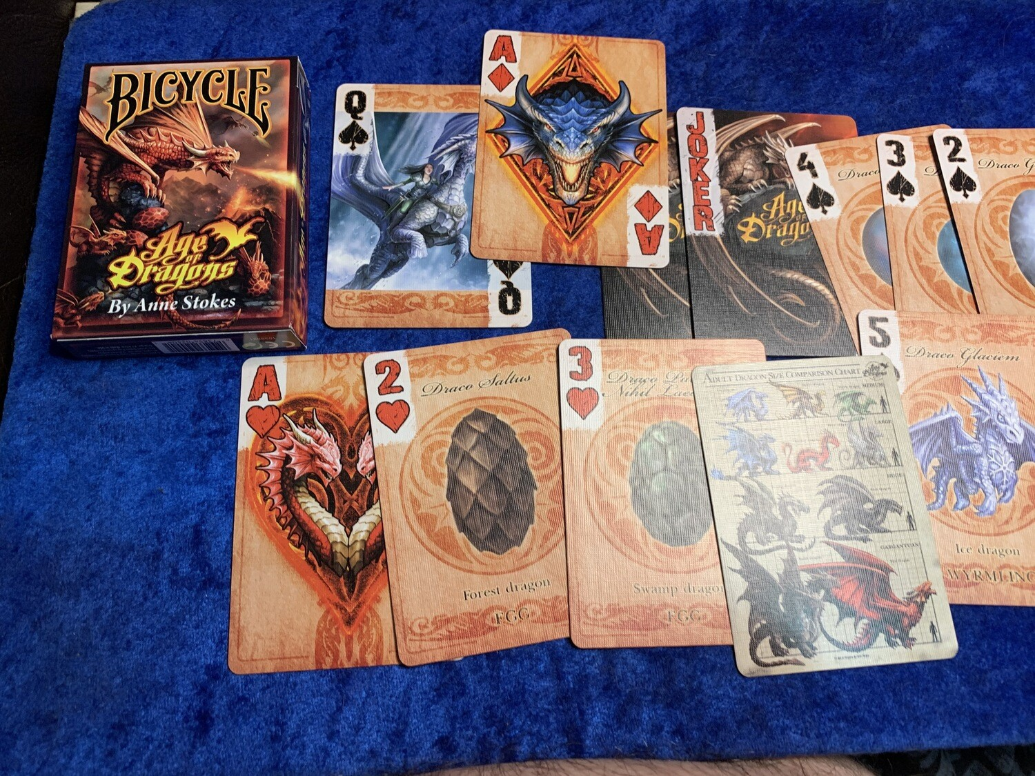 Age of Dragons Anne Stokes Bicycle Playing Cards Poker Casino Gambling Tabletop