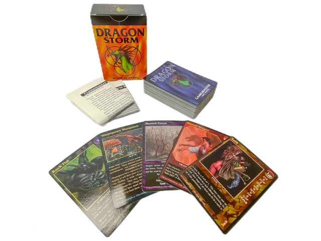 Dragon Storm Roleplaying CCG Deck RPG Game Cards Tabletop Gaming Fantasy