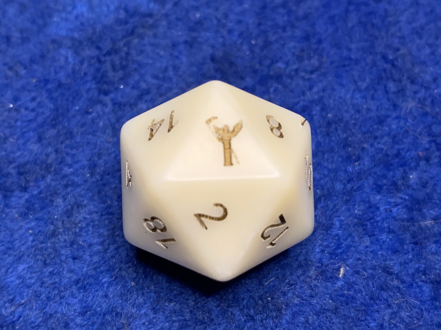 Death Grim Reaper D20 Die Custom Opaque Ivory D20 16mm Gaming Tabletop RPG Dice Roleplay CCG Board Cards Games Marker Tokens Count