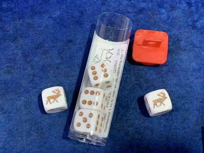 Elk Dice Game - Instructions with 5 Dice Tabletop Gaming Customized D6 RPG