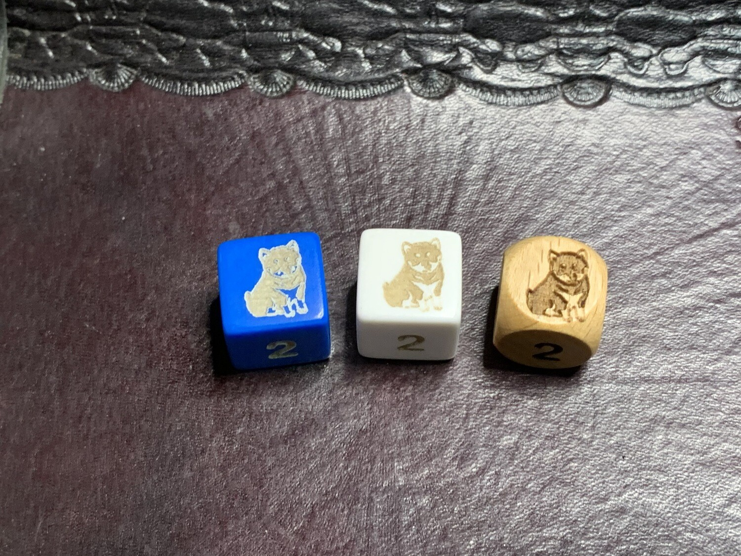 Shiba Inu dog 16mm Custom D6 Six-Sided Engraved Die RPG Tabletop Gaming Games CCG Board Roleplay LARP Cosplay Dice Tokens Markers Decision