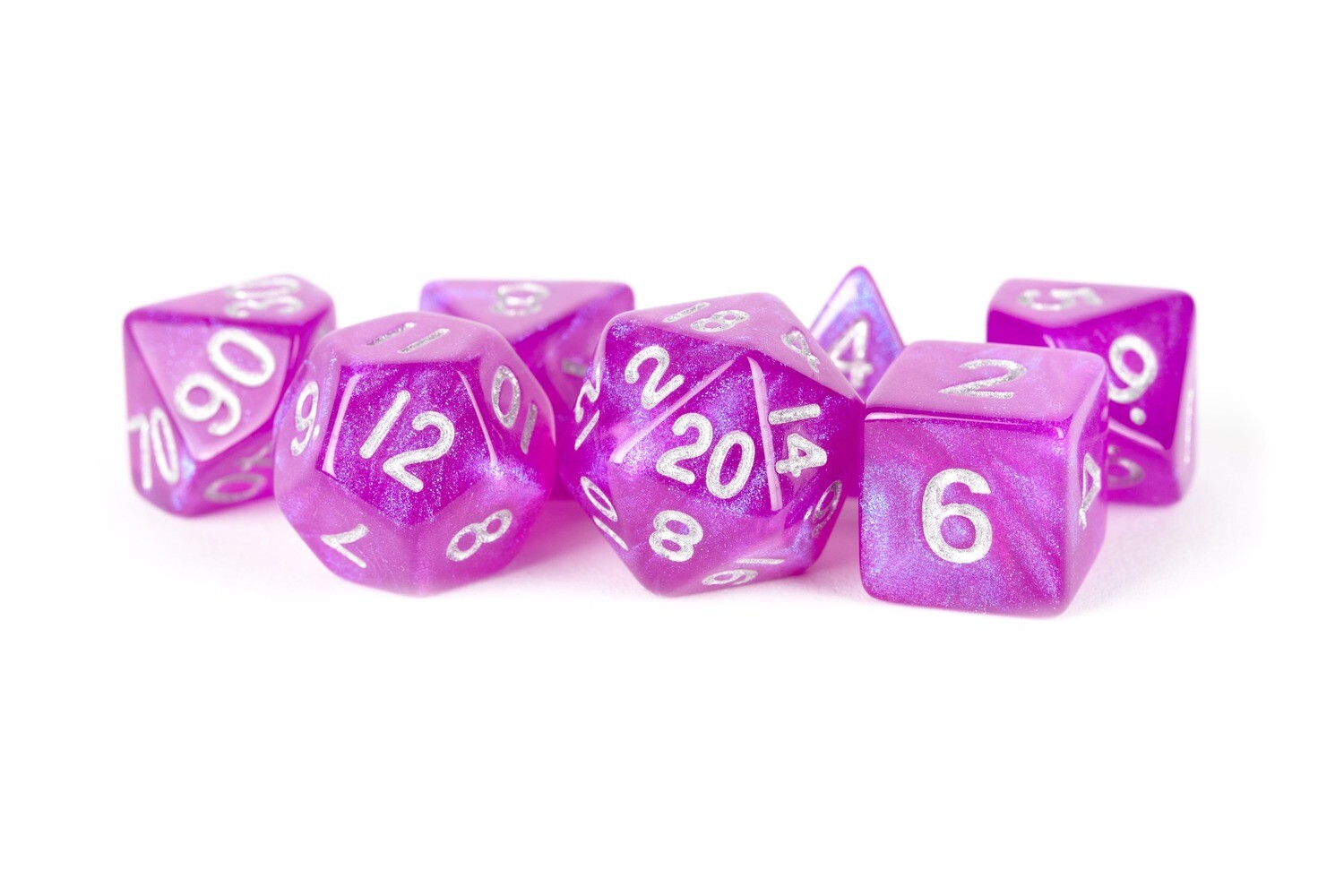 Stardust Purple 16mm Poly Dice Set Tabletop RPG Gaming Roleplay Games