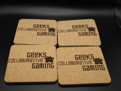Custom Made Coaster Set with Your Logo Image Name Map Faming Rules Group Saying Joke Wedding - With or Without Felt Backings Optional Color
