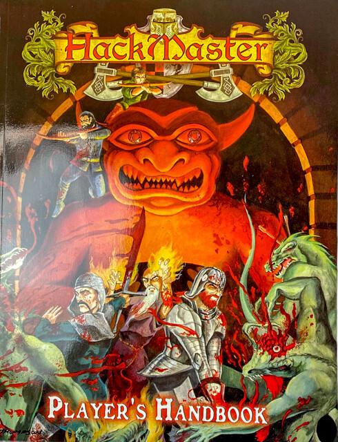 Hackmaster Players Handbook RPG Tabletop Gaming Roleplay Guide Fantasy Adventure