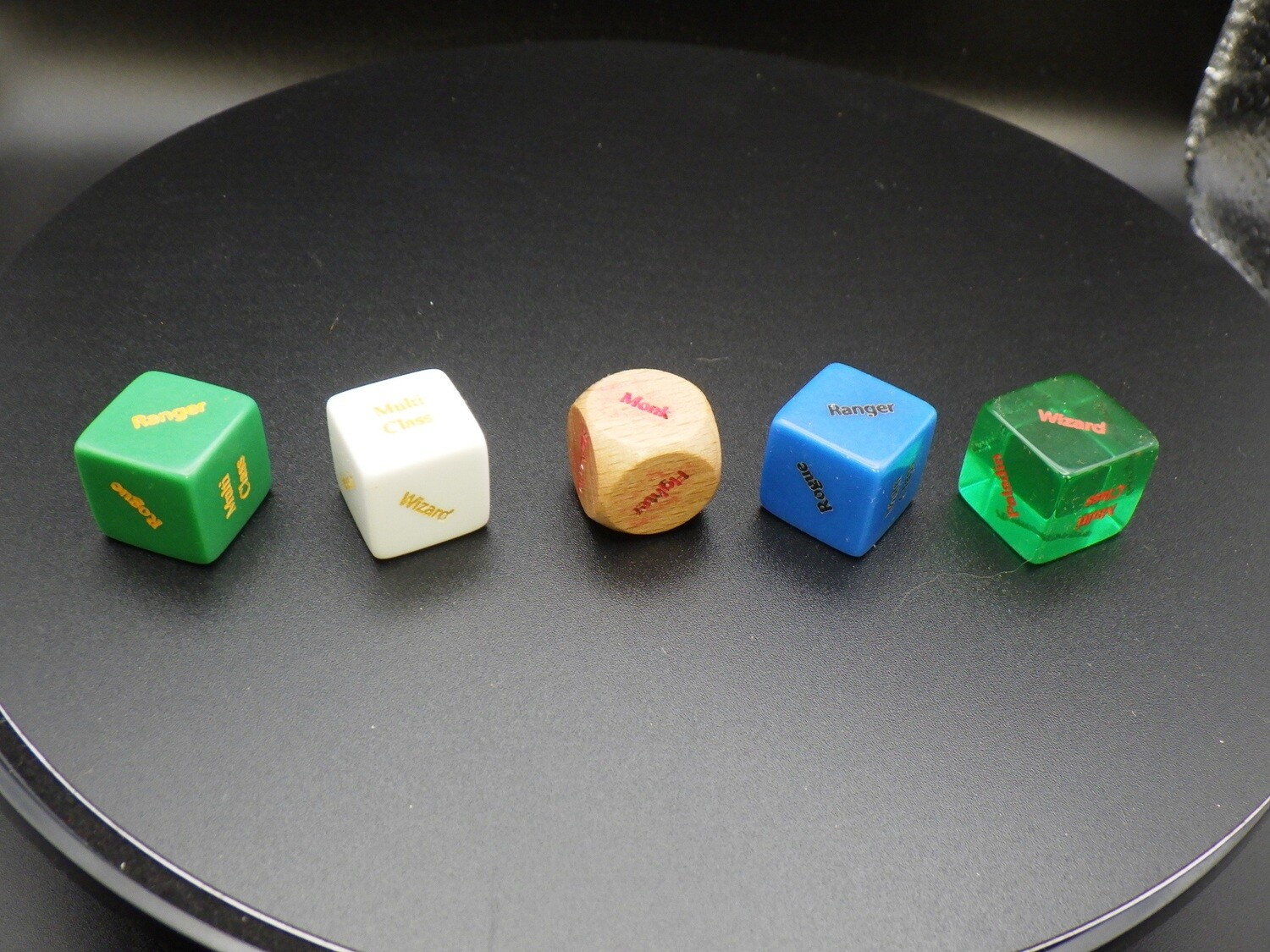 Custom RPG Fantasy Class Die V2 16mm Paladin Multiclass Ranger Sorcerer Rogue Wizard Gaming Tabletop RPG Dice Roleplay CCG Board Cards Games