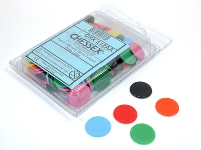 Pack of 100 Assorted 16mm Opaque Bingo Chips Tabletop Gaming RPG Board CCG
