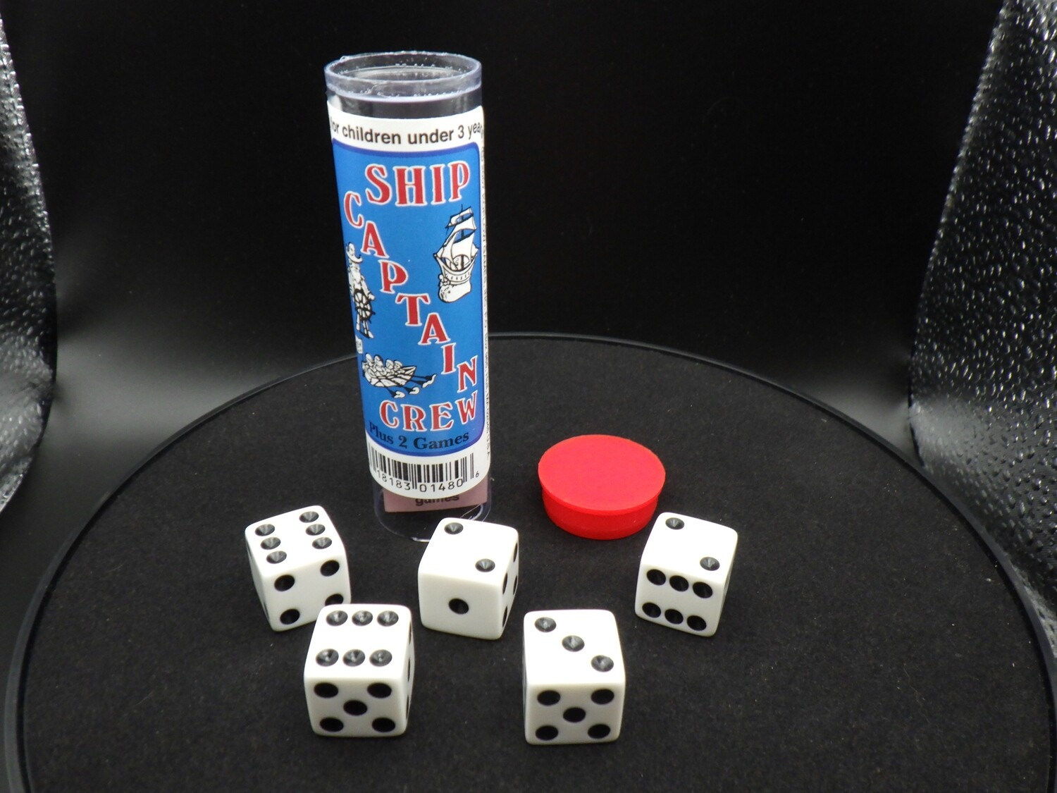 Ship Captain Crew Dice Game - Instructions with 5 Dice Tabletop Gaming