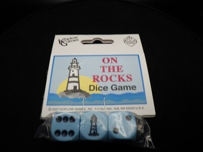 On the Rocks Lighthouse Dice Game - Instructions with 3 Dice - 3D6 - Tabletop Gaming