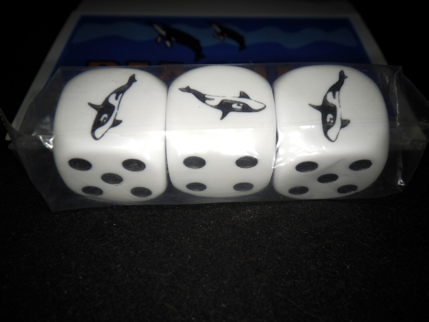 Beached Whale of a Dice Game - Instructions with 3 Whale Dice - 3D6 - Tabletop