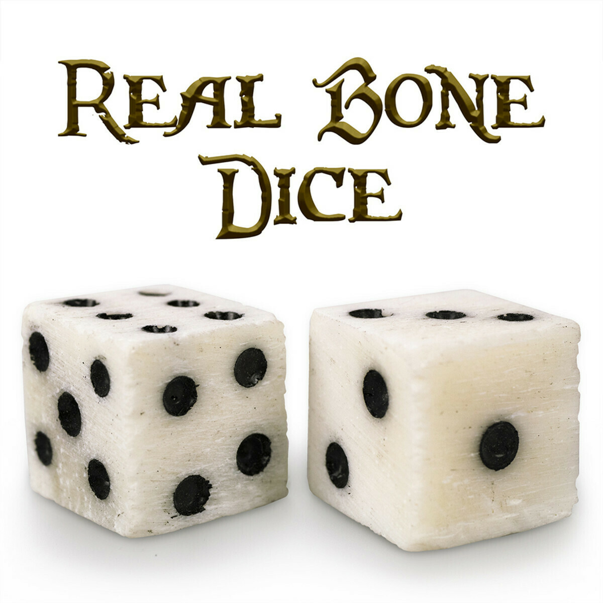 Luck Of The Lich Pips REAL Bone Dice 10mm Mini D6 Six-Sided RPG Tabletop Gaming