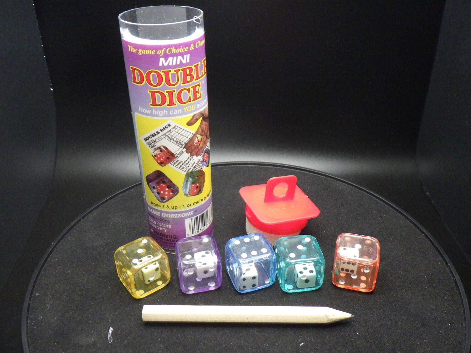 Double Dice Game - Instructions with 5 Dice Tabletop Gaming - Mini Dice Inside Dice D6 RPG Roleplay Gaming Cards Board CCG