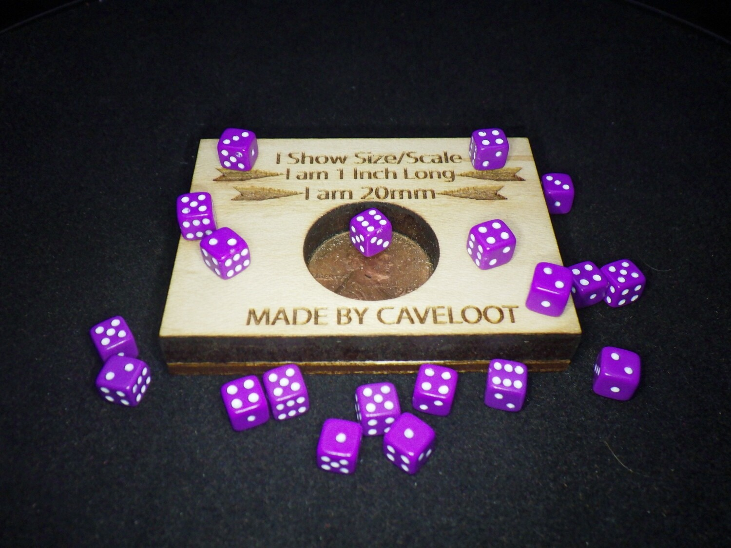 Twenty Purple with White 5MM OPAQUE Color Gaming Dice Rounded Corner Tabletop RPG Roleplay Tokens Counters Markers CCG Magic Card Board