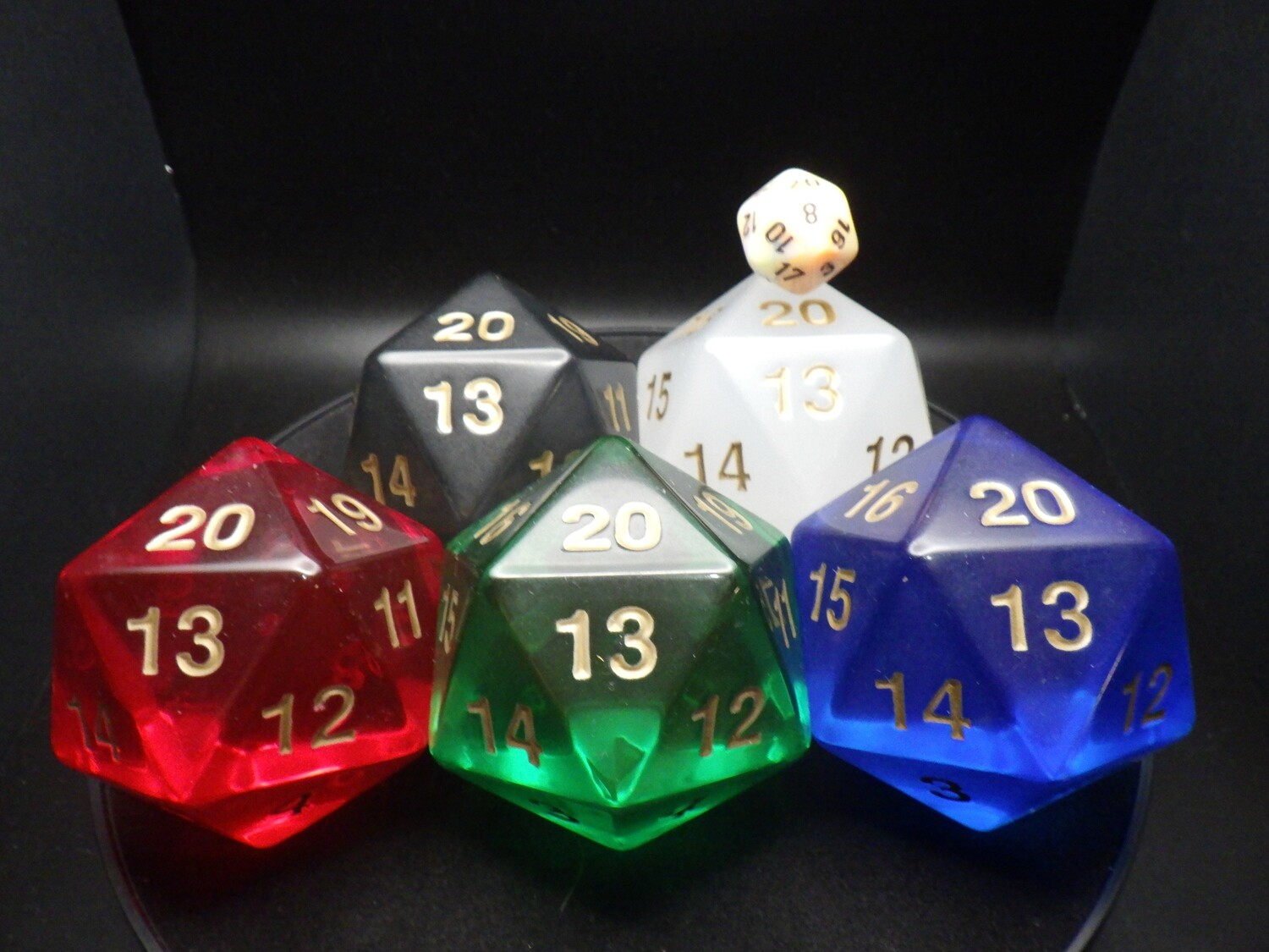Huge 55mm Transparent D20 Countdown Die Extra Large Giant Twenty Sided Counter Dice RPG Tabletop Roleplay CCG Cards Magic Board Token Marker Dungeon