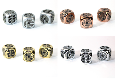 Metal Plated Over Plastic 16mm D6 Circuit Design RPG Gaming Die Roleplay Tabletop CCG Board Cards Board CCG Board Counter Marker Token Card