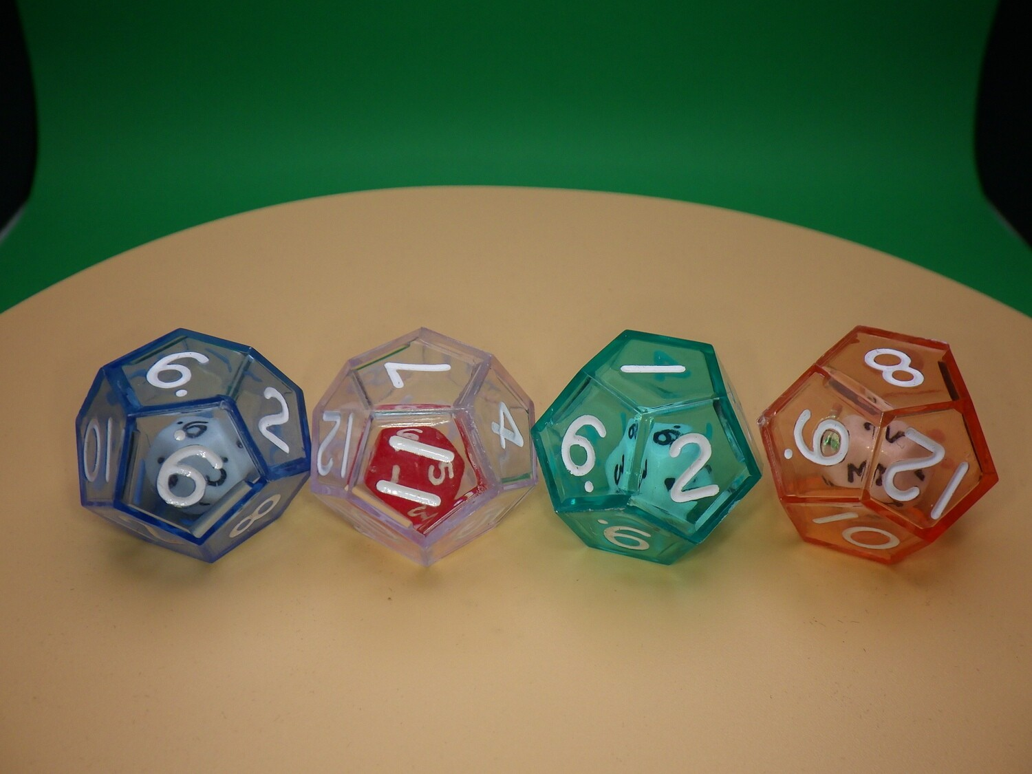 Double D12 - Small Twelve Sided Die in Larger Transparent Twelve Sided RPG Tabletop Gaming Roleplay CCG Board Card Games