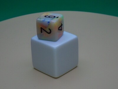 White Blank Dice - D6 25mm - Six Sided Counting Cube RPG Tabletop Roleplay Gaming CCG Board Games Counter Token Marker Fidget