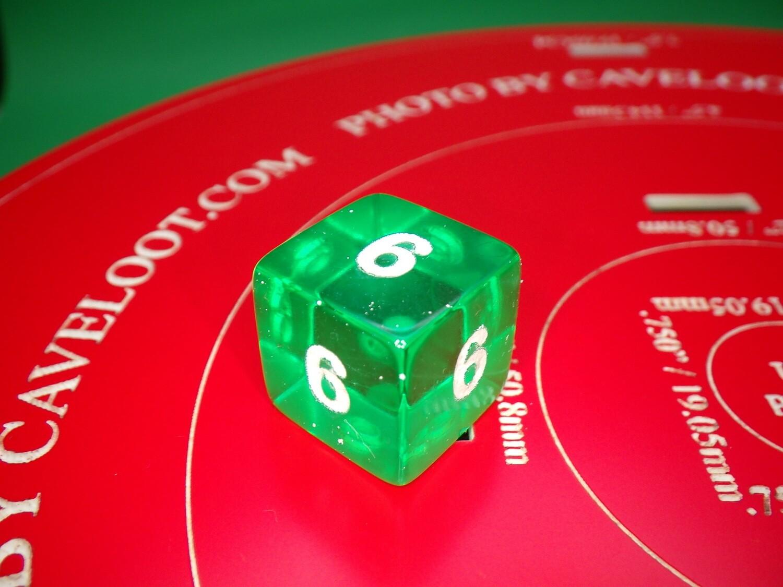 All 6's Gag Joke Cheat Custom D6 Die 16mm Gaming Tabletop RPG Dice Roleplay CCG Board Cards Games Token Counter Marker Board Random Roll