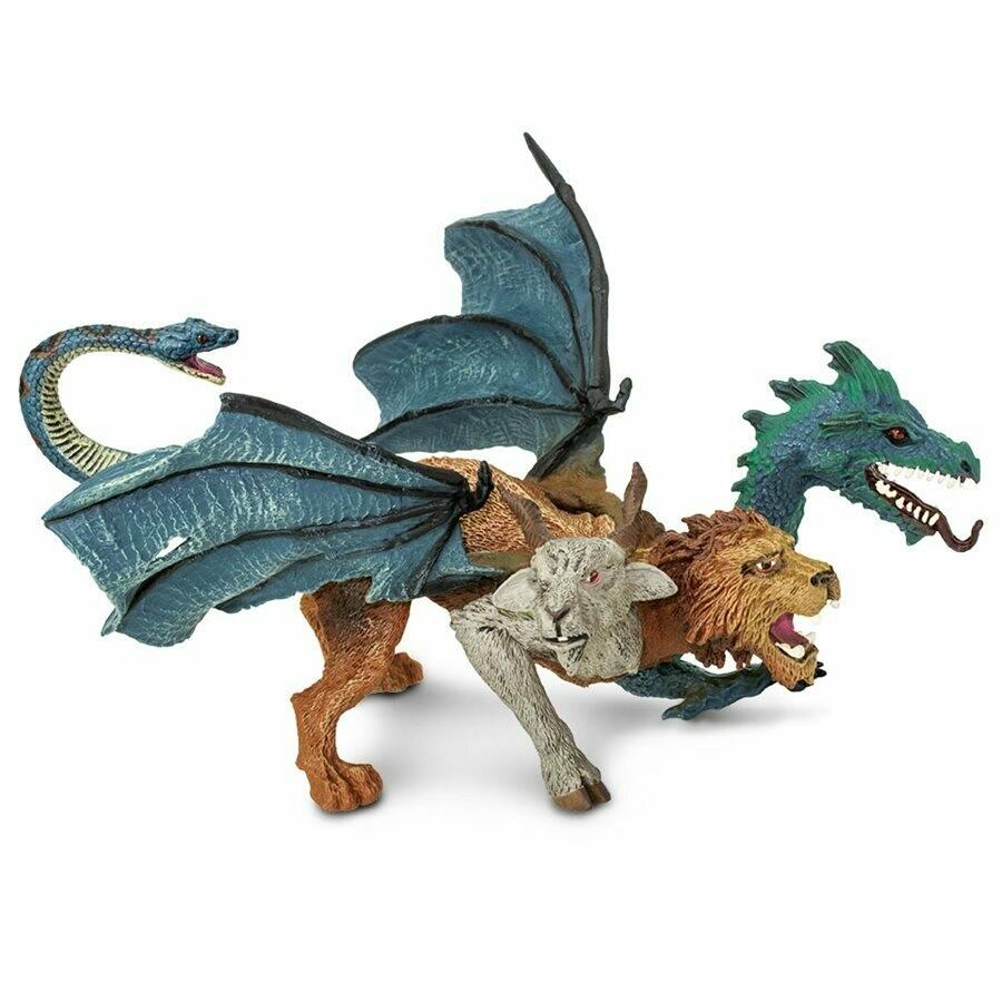 Chimera 5.85 L x 5.3 W x 4 H Inches - Tabletop Gaming RPG Miniature Fantasy Figure Miniature Figurine Toy Creature Monster Mini