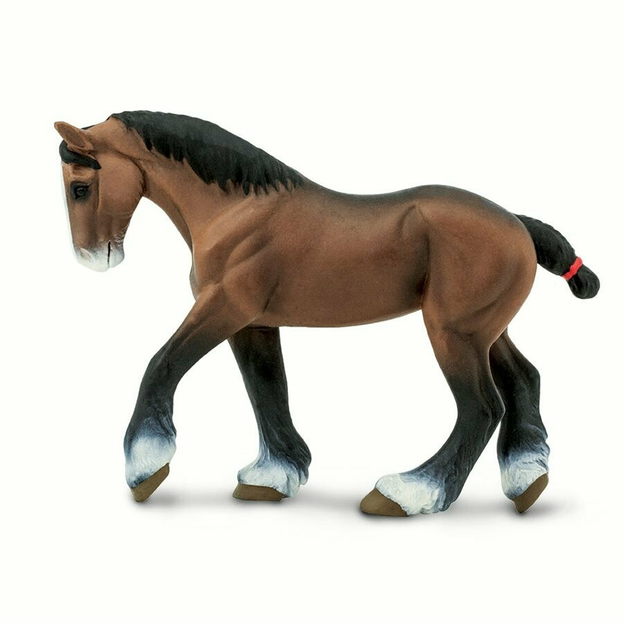 Clydesdale Mare 5.45 L x 1.2 W x 3.85 H Inches - Tabletop Gaming Horse Toy Miniature Fantasy Figure Miniature Figurine Toy Creature Monster Mini