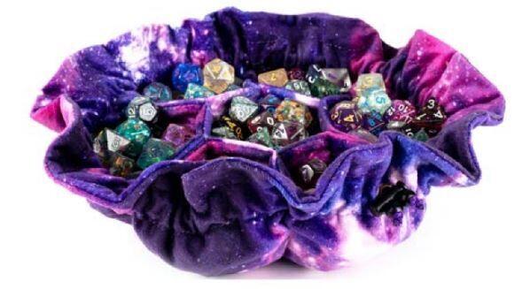Velvet Dice Bag with Pockets - Nebula - Holds 150+ RPG Tabletop Roleplay Games