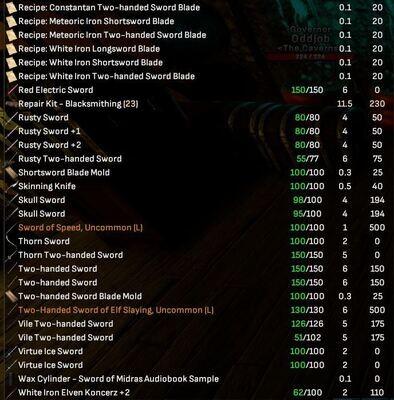 Swords Collectors Lot - Legendary, Rare's, More - Shroud of the Avatar
