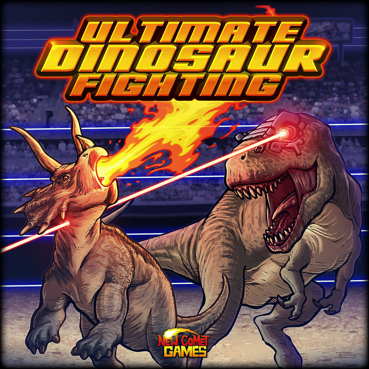 Ultimate Dinosaur Fighting Tactical Battle Board Game with 10 dinosaur standees