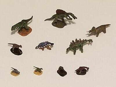 Dinosaur RPG Role Play Games Tabletop Metal Miniatures Figures Gaming Set of 10