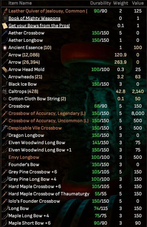 Bows Collectors Lot - Artifacts, Rare's, More - Shroud of the Avatar