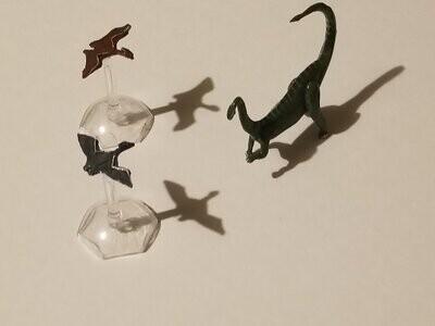 Dinosaur RPG Role Play Games Tabletop Metal Miniatures Figures Gaming Set of 3