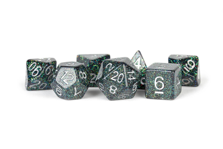 Astro Mica 16mm 7 Die Polyhedral Dice Set RPG Tabletop Gaming Roleplay RPG CCG