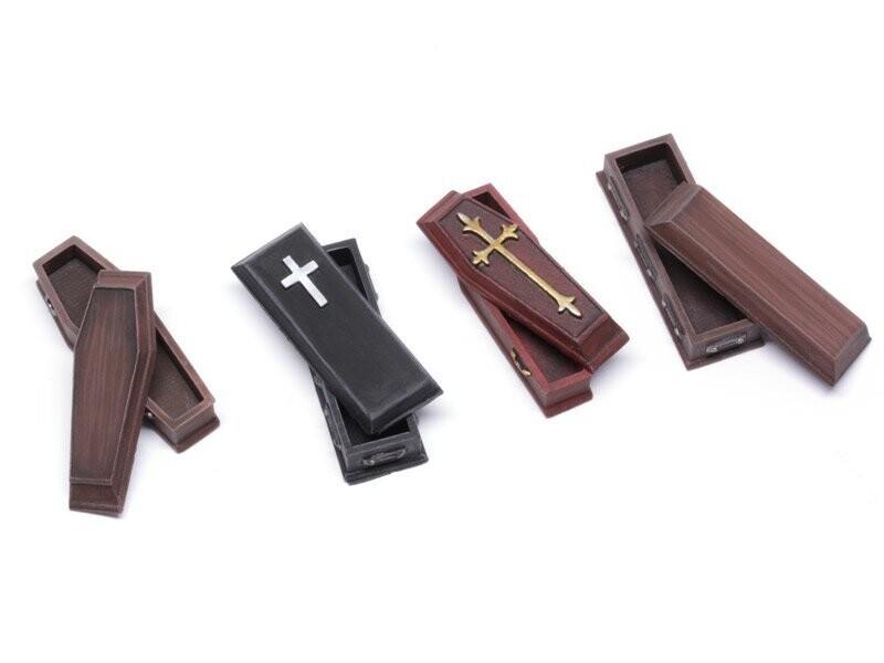 Coffins - Set 1 (4/4) Models Miniatures Figures RPG Tabletop Roleplay Games