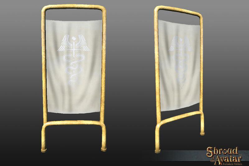Ornate Hospital Room Divider (pack of 3) - Shroud of the Avatar