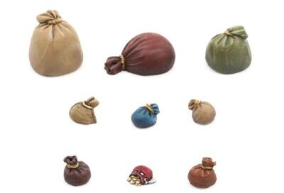 Small sacks and bags (9) Models Miniatures Figures RPG Tabletop Roleplay Games